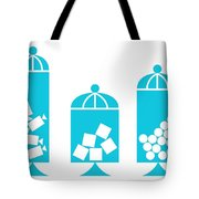 Canisters In Turquoise Tote Bag