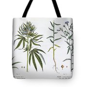 Cannabis And Flax Tote Bag
