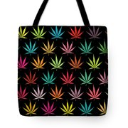 Cannabis Leaf Multi-coloured Pattern Tote Bag