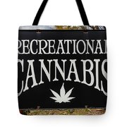 Cannabis Marijuana Store In Ridgway Tote Bag