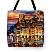 Cannes-france - Palette Knlfe Oil Painting On Canvas By Leonid Afremov Tote Bag