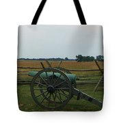 Cannon At Gettysburg Tote Bag