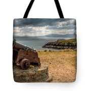 Cannon At Llanddwyn  Tote Bag by Adrian Evans