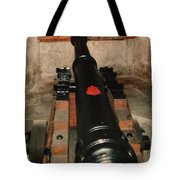 Cannon At Pendennis Castle Tote Bag