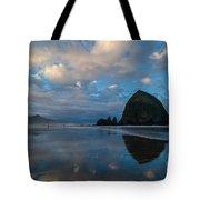 Cannon Beach Calm Morning Tidal Flats Tote Bag
