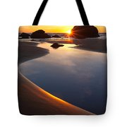 Cannon Beach Sunset Vertical Tote Bag