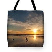 Cannon Beach Sunset Tidal Flats Tote Bag