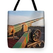 Cannon In Fortress Tote Bag