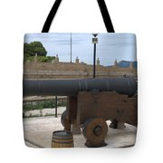 cannon of the old fort Corfu Tote Bag