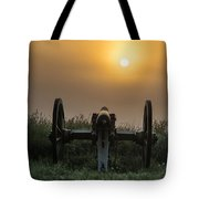Cannon On Cemetery Hill Gettysburg Tote Bag by John Greim