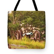 Cannon On Culps Hill Tote Bag