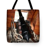 Cannon On Sailship Tote Bag