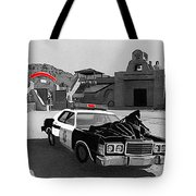 Cannonball Run 2  Brothel Set   Mexican Plaza Old Tucson Arizona 1984 Tote Bag