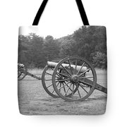 Cannons On Manassas Battlefield Tote Bag