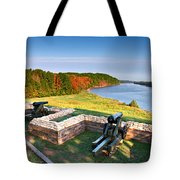 Cannons Overlooking The River Tote Bag
