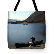 Canoe By The Lake Tote Bag