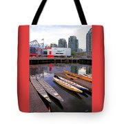 Canoe Club And Telus World Of Science In Vancouver Tote Bag