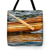 Canoe Lines And Reflections Tote Bag