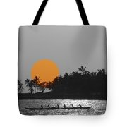 Canoe Ride In The Sunset Tote Bag