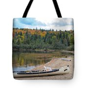 Canoe With An Engine Tote Bag