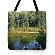Canoeing Michigan's Au Sable Tote Bag