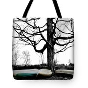 Canoes In Winter Tote Bag