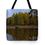 Canoes On The Shore At Loch An Eilein Tote Bag