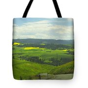Canola Country Road Tote Bag