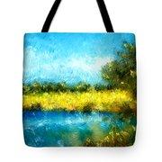 Canola Fields Impressionist Landscape Painting Tote Bag