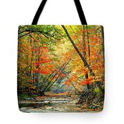 Canopy Of Color II Tote Bag by Frozen in Time Fine Art Photography