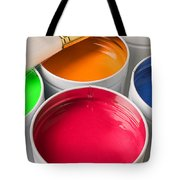Cans Of Colored Paint Tote Bag