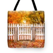 Canterbury Shaker Village Picket Fence  Tote Bag