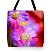 Canvas Flowers Tote Bag