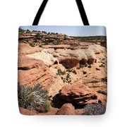 Canyon De Chelly - Land Of Standing Rock Tote Bag by Christine Till