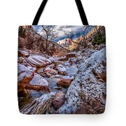 Canyon Stream Winterized Tote Bag