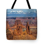 Canyon View From Mesa Arch Overlook Tote Bag