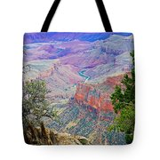 Canyon View From Walhalla Overlook On North Rim Of Grand Canyon-arizona  Tote Bag