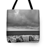 Caorle Dream Black And White Tote Bag