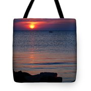 Cape Charles Rocky Sunset  Tote Bag