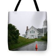 Cape Elizabeth On A Rainy Day- Maine Tote Bag