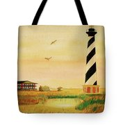 Cape Hatteras Light At Sunset Tote Bag