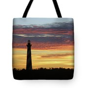 Cape Hatteras Lighthouse At Sunset Tote Bag