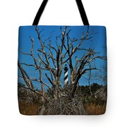 Cape Hatteras Lighthouse Through The Trees 3/01 Tote Bag