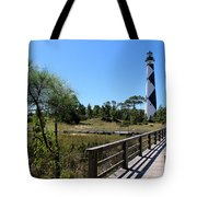 Cape Lookout Walk Way Tote Bag