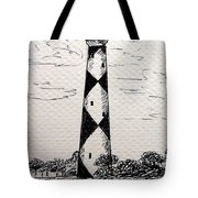 Cape Lookout Lighthouse Nc Tote Bag
