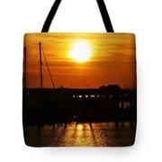 Cape May Harbor At Sunrise Tote Bag
