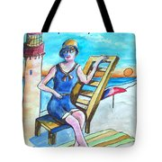 Cape May Illustration Poster Tote Bag