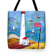 Cape May Point Lighthouse Tote Bag
