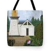 Cape Meares Lighthouse April 2013 Tote Bag by Anne Norskog