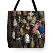 Cape Neddick Lobster Buoys Tote Bag